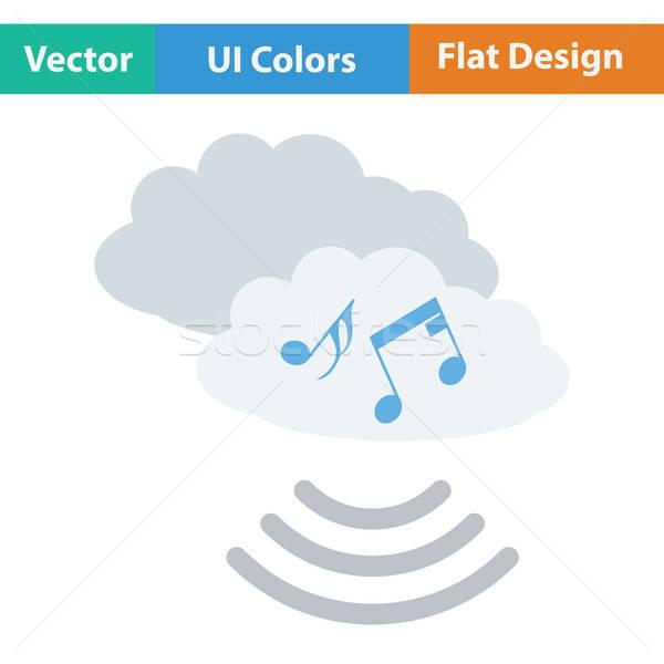 Musica cloud icon colore design cielo tecnologia Foto d'archivio © angelp