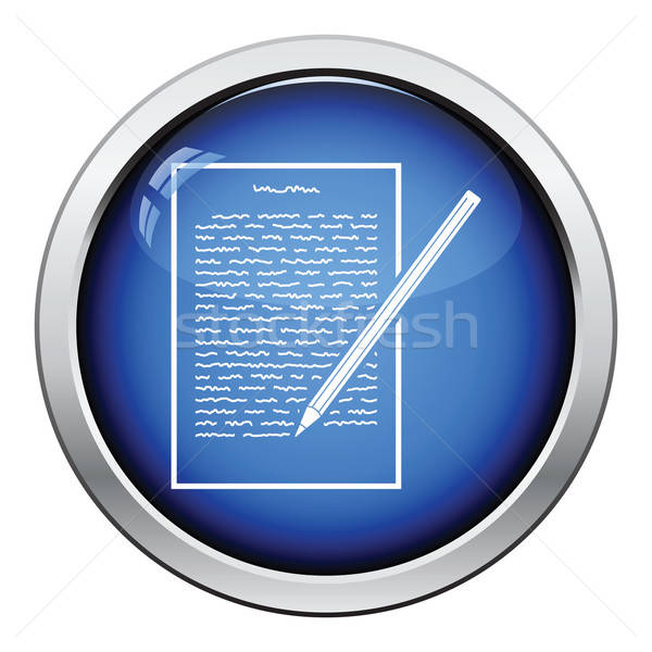 Sheet with text and pencil icon Stock photo © angelp