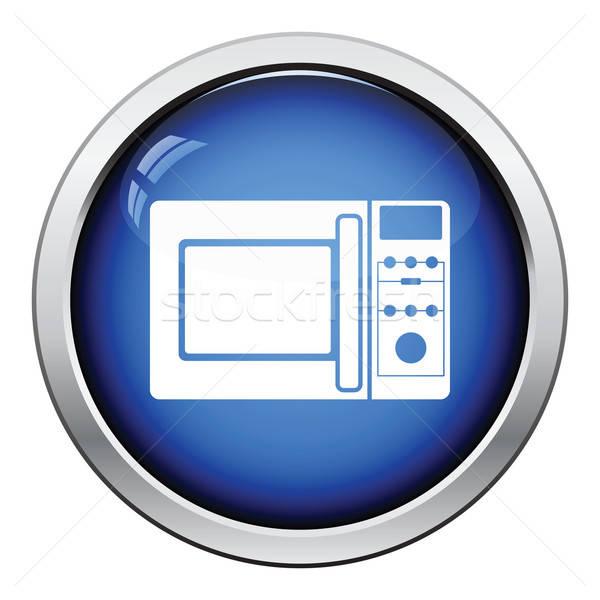 Micro ola horno icono botón Foto stock © angelp