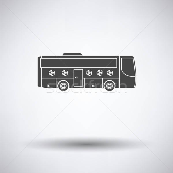Fútbol ventilador autobús icono gris deporte Foto stock © angelp