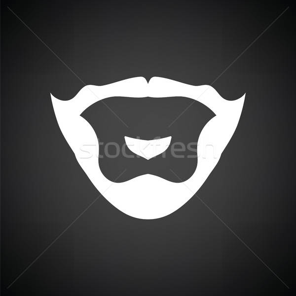 Goatee icon Stock photo © angelp