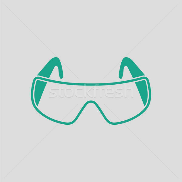 Icon of chemistry protective eyewear Stock photo © angelp