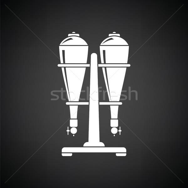 üdítő felszerlés ikon feketefehér víz otthon Stock fotó © angelp