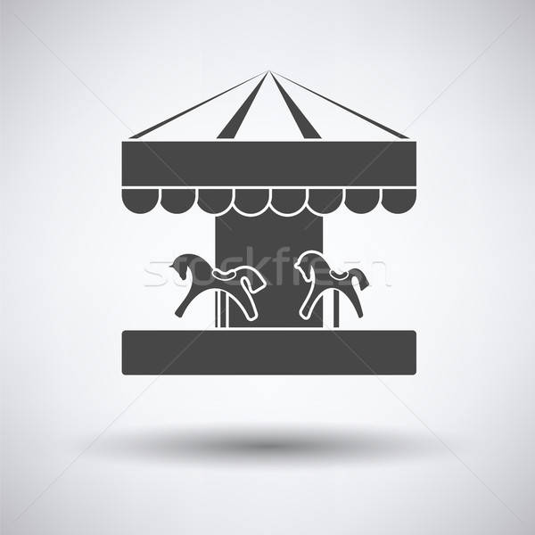 Children horse carousel icon Stock photo © angelp
