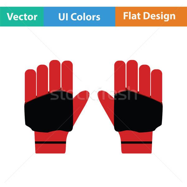 Par cricket guantes icono manos diseno Foto stock © angelp