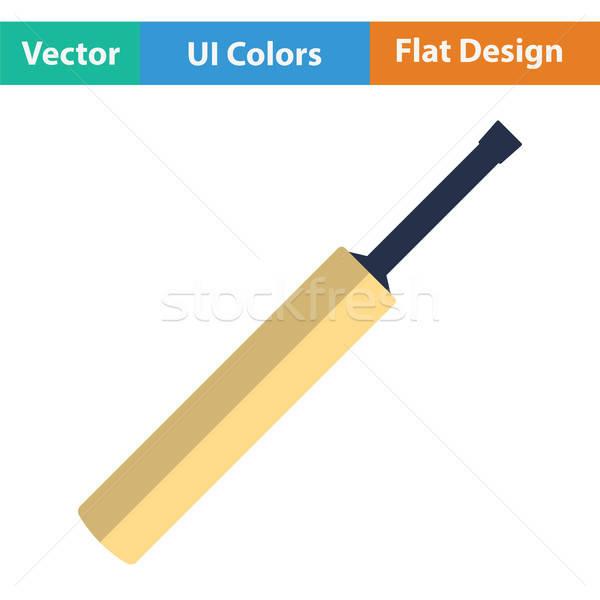 Críquete bat ícone bola desenho animado meta Foto stock © angelp