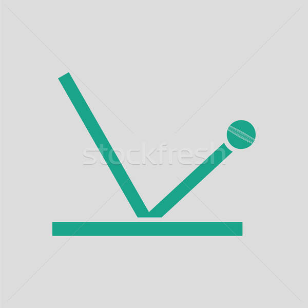 крикет мяча траектория икона серый зеленый Сток-фото © angelp