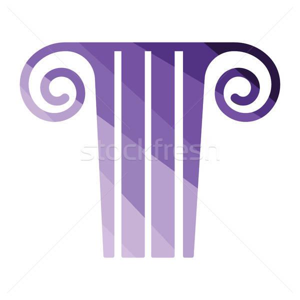 антикварная колонки икона цвета дизайна строительство Сток-фото © angelp