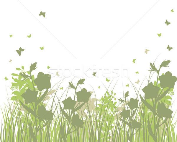 Weide silhouetten vector gras alle objecten Stockfoto © angelp