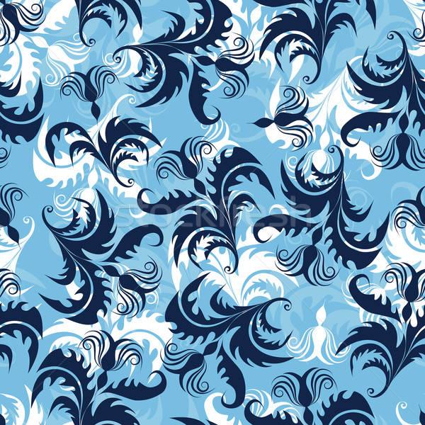 цветочный бесшовный вектора дизайна текстуры лист Сток-фото © angelp