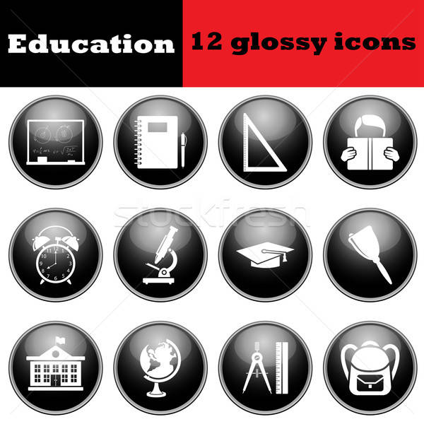 Set of education glossy icons Stock photo © angelp