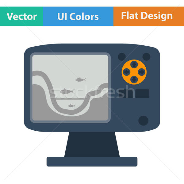 Flat design icon of echo sounder Stock photo © angelp