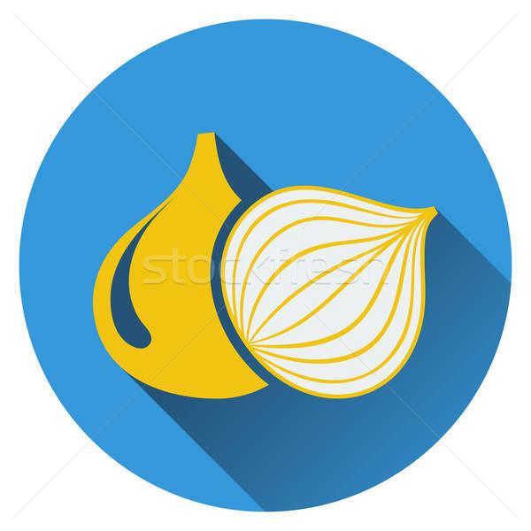 Onion icon Stock photo © angelp