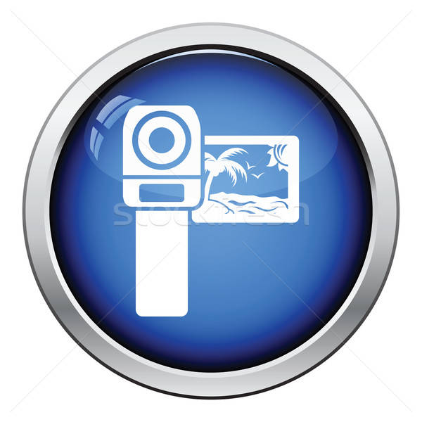 Filmadora ícone botão projeto filme Foto stock © angelp