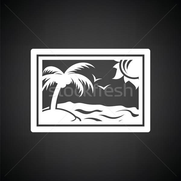 пейзаж искусства икона черно белые небе свет Сток-фото © angelp