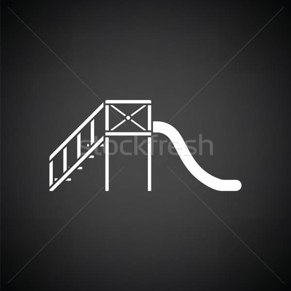 слайдов черно белые школы ребенка фон скорости Сток-фото © angelp