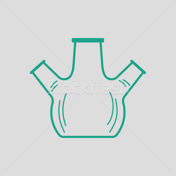 икона химии нижний колба горло серый Сток-фото © angelp
