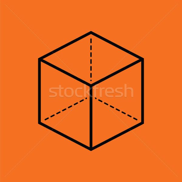 Cube with projection icon Stock photo © angelp