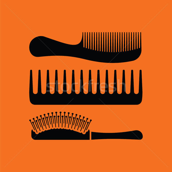 Hairbrush icon Stock photo © angelp