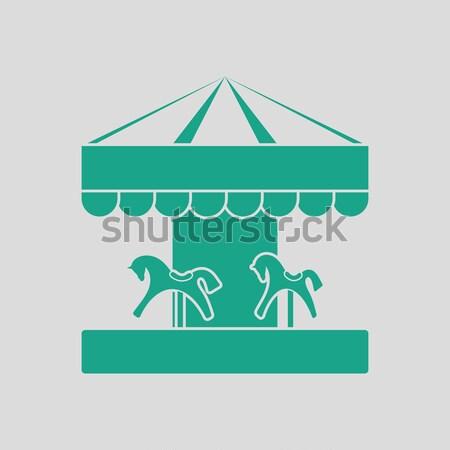子供 馬 回転木馬 アイコン インターネット 幸せ ストックフォト © angelp