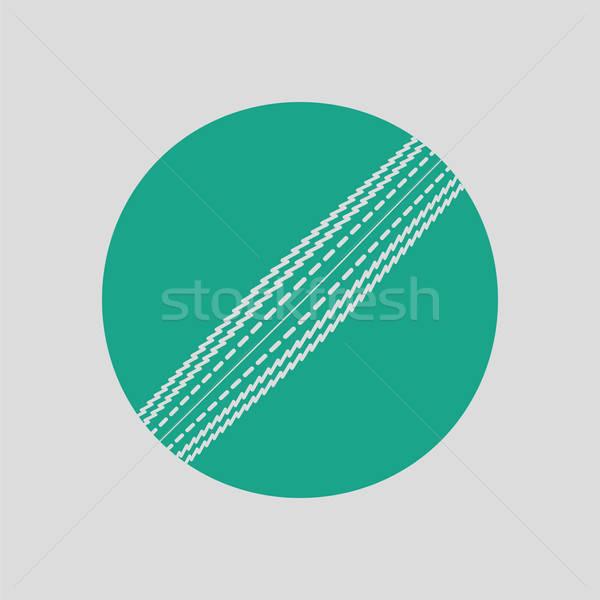 Krikett labda ikon szürke zöld mező Stock fotó © angelp