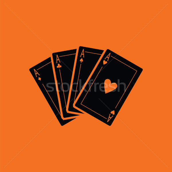 Set of four card icons Stock photo © angelp