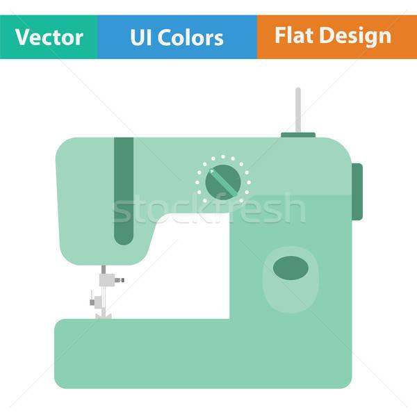 Nowoczesne maszyny do szycia ikona kolor projektu moda Zdjęcia stock © angelp