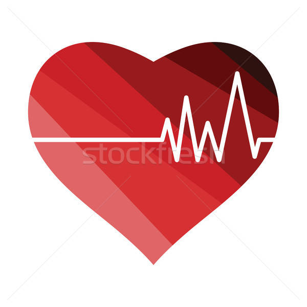 Coeur cardio diagramme icône couleur design Photo stock © angelp