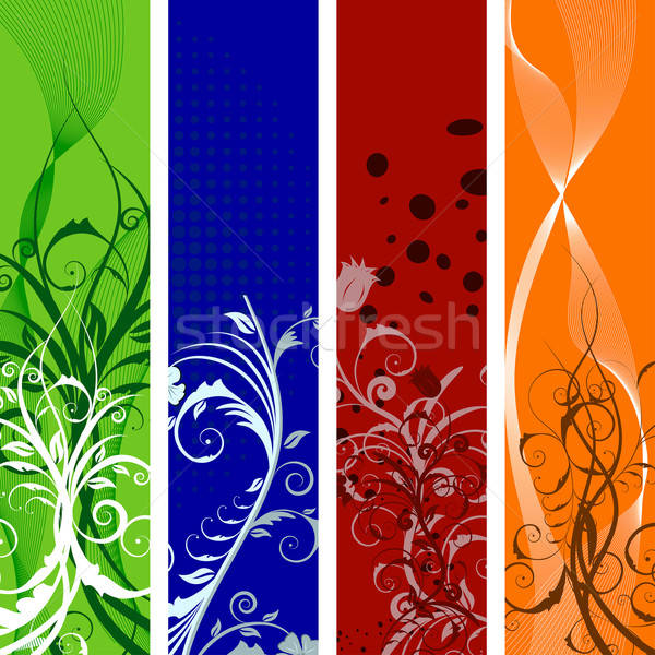 floral banners set Stock photo © angelp