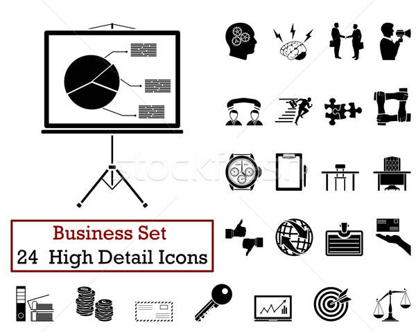 24 Business Icons Stock photo © angelp