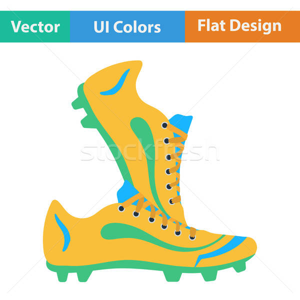 Flat design icon of football boots Stock photo © angelp