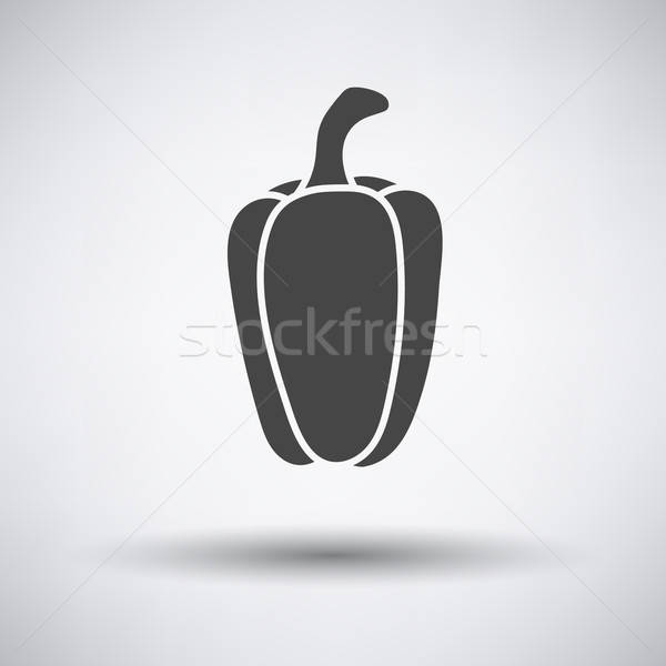 Pepper icon on gray background Stock photo © angelp