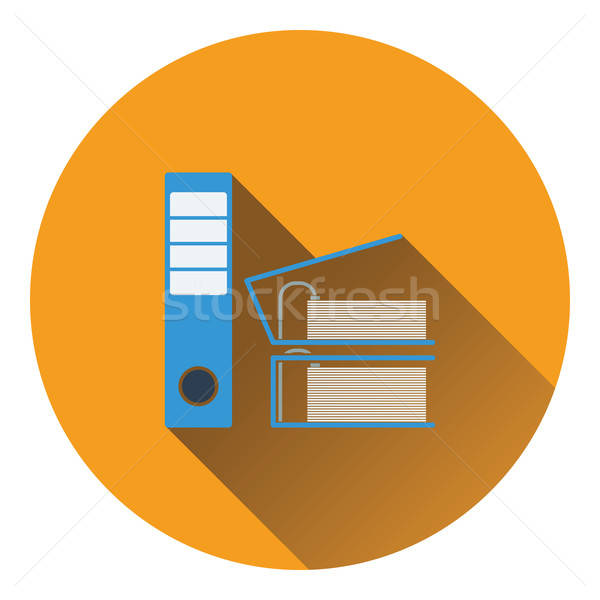 Icon of Folders with clip Stock photo © angelp