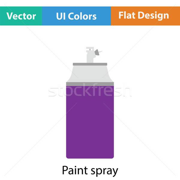 Boya sprey ikon renk dizayn arka plan Stok fotoğraf © angelp