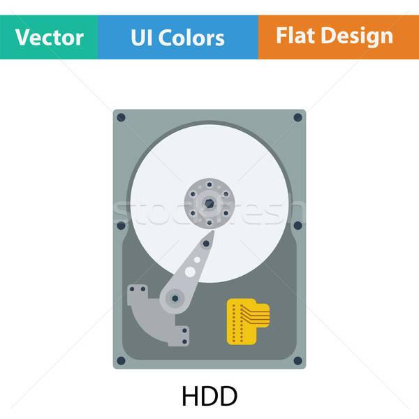 Hdd ikon szín terv számítógép technológia Stock fotó © angelp