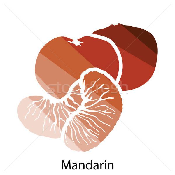 Mandarin icon Stock photo © angelp