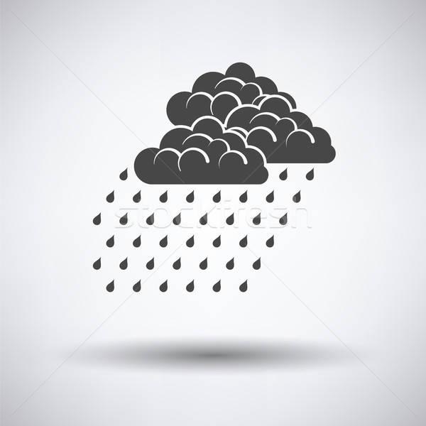 Precipitazioni icona grigio acqua primavera sfondo Foto d'archivio © angelp