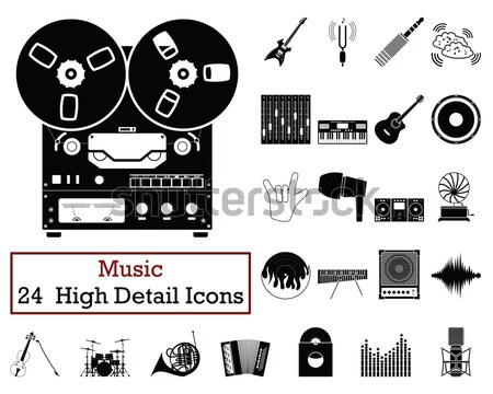 Set of 24 Music Icons Stock photo © angelp