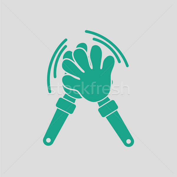Football fans clap hand toy icon Stock photo © angelp
