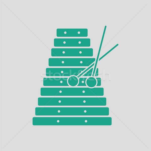 木琴 アイコン グレー 緑 コンサート おもちゃ ストックフォト © angelp