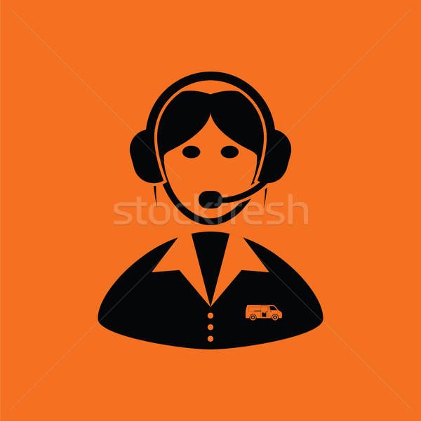 Logistic dispatcher consultant icon Stock photo © angelp