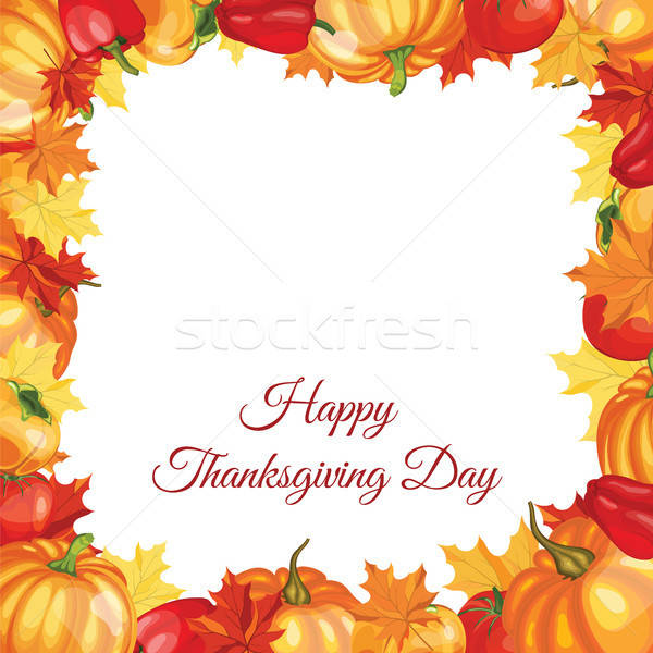 Thanksgiving Day Greeting Card Stock photo © angelp