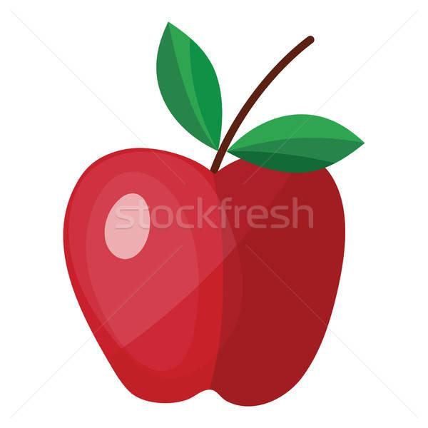 Terv ikon alma ui színek fa Stock fotó © angelp
