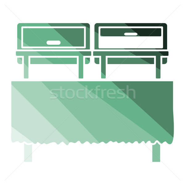 Chafing dish icon Stock photo © angelp