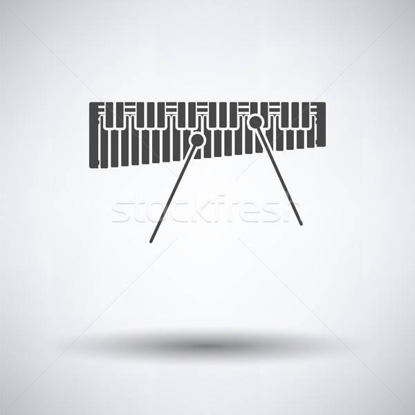 木琴 アイコン グレー バー コンサート おもちゃ ストックフォト © angelp