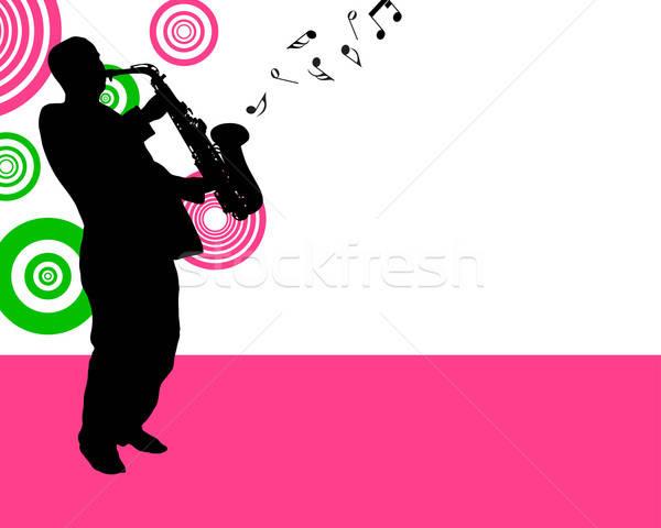 saxophonist Stock photo © angelp