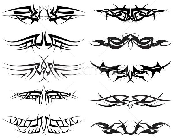 Tattoos ingesteld patronen Tribal tattoo ontwerp Stockfoto © angelp