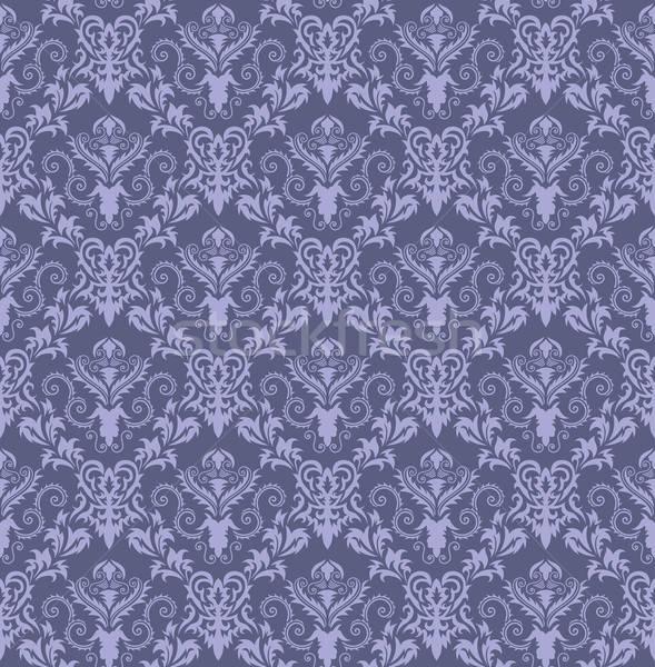 シームレス ダマスク織 パターン 抽象的な 背景 葉 ストックフォト © angelp