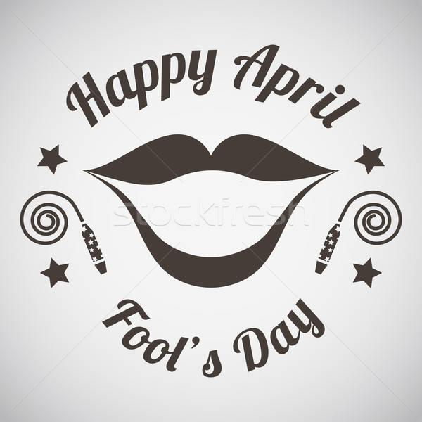 Foto stock: Dia · emblema · grande · sorrir · primavera · festa