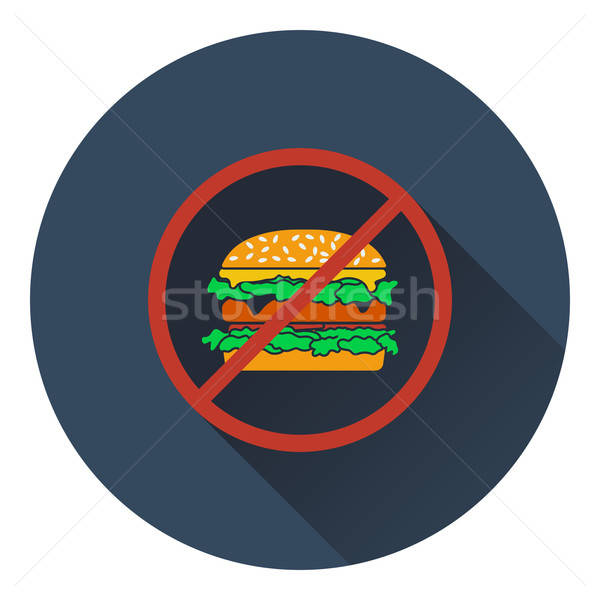 Icon of Prohibited hamburger Stock photo © angelp